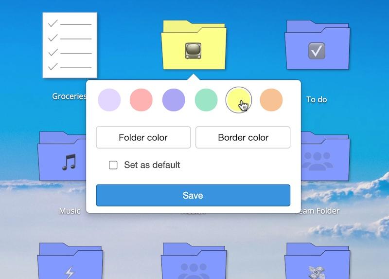 Folder colors